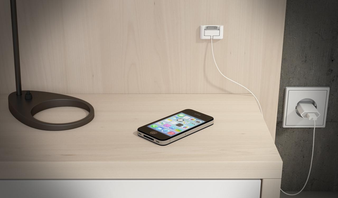 Soporte para el conector de tu iPhone, iPad y iPod